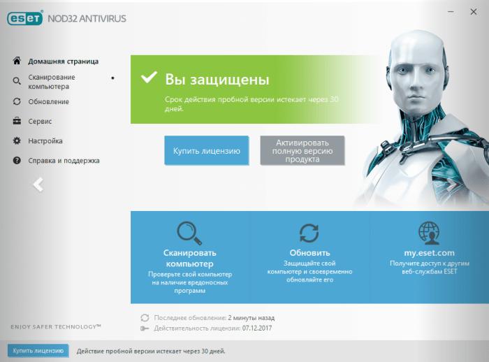 самые обновление пробной версии антивируса нод 32 интернет сервисы позволяют